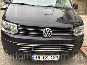 Цілісна грати в бампер Volkswagen T5 (2010+)
