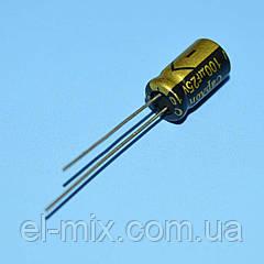 Конденсатор электролит. компьютерный  100мкФ 25В CapXon 105*С LZ  6*11