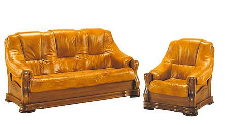 Мягкое кожаное кресло BOZENA (90 см), фото 2