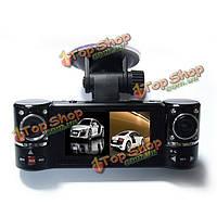 1280x480 двумя объективами f600 вождение рекордер автомобиля камера DVR видео