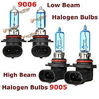Пара 9005/9006 ксеноновые лампы спрятался высокой / низкой лампы дальнего света галогенные 6500K белый