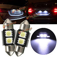 31мм 5050 2 SMD LED CANbus салон автомобиля купола фестона света колба лампы белого