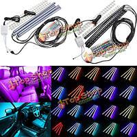 20 цветов RGB 5050 LED автомобиль свечение интерьер комплект атмосфера полосы света бар 44 ключ