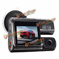 HD 1080p двойной линзы автомобиль автомобиль DVR камера приборной панели видео запись камеры G-сенсор