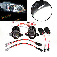 LED Белый ангел глаз 20Вт галогена гало лампочки для BMW E90 E91 2009-2011 гг