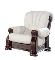 Классическое кожаное кресло - CEZAR III (105 см)