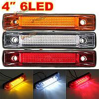 6 LED зазор боковой габаритный фонарь сигнальная лампа грузовик прицеп грузовой автомобиль ван 12v 24v