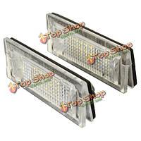 2x белый LED номерной знак огни лампа  пригодный для жизни BMW e39 универсал 5door
