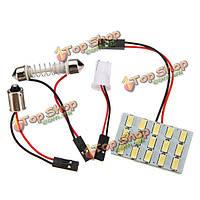 12В 5630 яркий интерьер панели LED Света+ Лампа T10 ba9s гирлянда адаптер