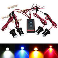 Универсальный пульт дистанционного управления автомобилем 4 LED стробоскоп мигает опасность аварийной сигнальной лампы
