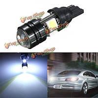 Автомобиль t10 LED авто лампа 5w-12v лампочки с бифокальной линзой белый свет