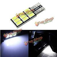 T10 5630 9SMD LED белый свет canbus ошибка свободной замены лампочки автомобиля
