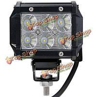 4-дюйма 18w LED рабочий свет бар лампа для автомобиля грузовик внедорожного