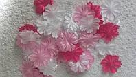 Заготовки цветочки 2,7 см (микс розовый) 50 шт