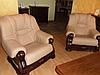 Классическое мягкое кресло в коже CHEVERNY (97см), фото 5