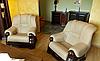 Классическое мягкое кресло в коже CHEVERNY (97см), фото 6