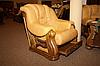 Классическое мягкое кресло в коже CHEVERNY (97см), фото 7