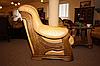 Классическое мягкое кресло в коже CHEVERNY (97см), фото 9