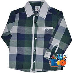 """Стильная рубашка с длинным рукавом """"Waxmen Original"""" , для мальчика (рост 80-86-92-98 см)"""