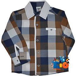 """Стильная рубашка с длинным рукавом """"Waxmen Original"""" , для мальчиков (рост 80-86-92-98 см)"""