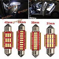 Пара ошибок CANbus бесплатно 9 LED интерьер автомобиля лампочки фестона чтение номерного знака огни