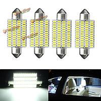 4шт 3w 41мм интерьер автомобиля LED festonn readding крыша свет колбы лампы белый