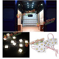 Белый 4500k для LWB ван грузовиков спринтер транзита Ducato VW Авто 12v 4 LED Внутреннее освещение Набор 10 X