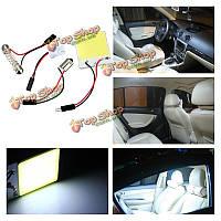 48 LED глыб t10 ba9s чипа украшают купол белая внутренняя легкая групповая автомобильная лампа лампочки