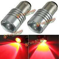 2X красный LED 1157 ошибка BAY15d P21/5w луковиц автомобиля хвост сзади стоп стоп-сигналы CANbus бесплатно
