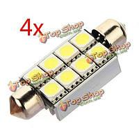 4X шина can 42мм 8 LED 5050 SMD LED автомобиля купола фестона c5w плита электрическая лампочка