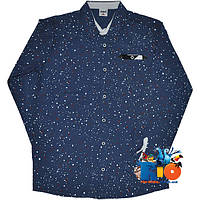 """Детская рубашка с длинным рукавом  """"Waxmen Classic"""" , для мальчика (рост 110-116-122-128-134 см)"""