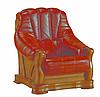 Новое кожаное кресло FRYDERYK II (90 см), фото 2