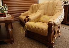 Нове шкіряне крісло FRYDERYK II (90 см), фото 3