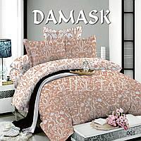 Комплект постельного белья (Евро) поплин Дамаск Viluta 001