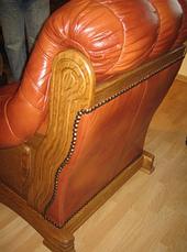 Нове шкіряне крісло FRYDERYK II (90 см), фото 2