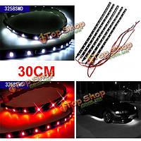 30см 15 LED 3528 гибкая лента автомобиль DRL шасси свет свет украшения водонепроницаемый