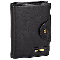 Стильный кошелек из спил кожи 302-01 Black