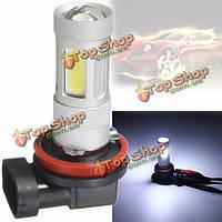 H11 24w Cree LED початка тумана автомобиля DRL работает белый свет лампочки 12V-24V лампа