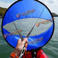 42-дюймов ветру Ветер весло всплывающий совет каяк парус ветер паруса аксессуары ПВХ голубой