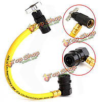 10-1/2-дюймов R134A AC Auto Air Conditioning Recharge Hose Refrigerant Can Tap 600 PSI