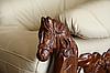 Кожаное кресло с резьбой OSKAR (80 см), фото 6