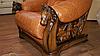 Кожаное кресло с резьбой OSKAR (80 см), фото 7