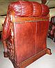Кожаное кресло с резьбой OSKAR (80 см), фото 8