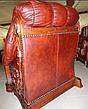 Кожаное кресло с резьбой OSKAR (80 см), фото 4