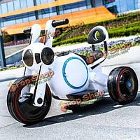Ребенок электрический мотоцикл трехколесный велосипед ребенка скутер не скользит защитная конструкция музыки LED фонари