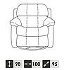 Кожаное кресло с реклайнером REGLAINER (100 см), фото 10