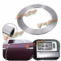 13 метра U-образный серебро хром автомобиля стайлинг литье полосы кузов воздушник клейкую накладку