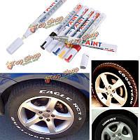 Универсальный водонепроницаемый белый постоянный краска автомобильная шина маркером