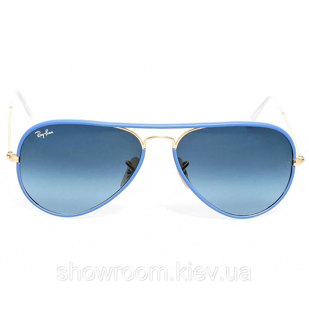 Женские солнцезащитные очки в стиле Ray Ban 3025jm full color blue