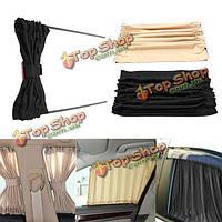 2шт 70см поймали в сети l авто занавес Windows автомобиля щитка драпа зонтика UV обшивки задней части